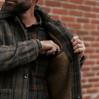 Men's Best Wool Jacket in Brown Plaid
