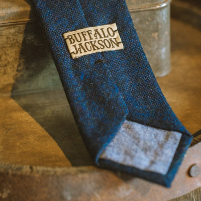 Classic Solid Wool Necktie | Charcoal