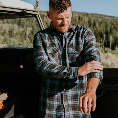 Men's Tough Pearl Snap flannel Shirt