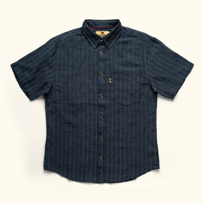 Miller Short Sleeve Striped Linen Shirt