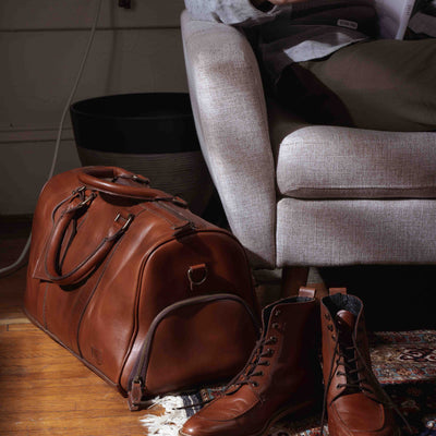 Men's Vintage Leather Travel Duffle | Elderwood