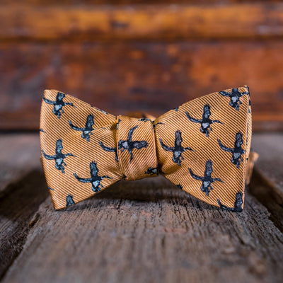 Bow Tie - Ducks Wildlife Series - Apricot