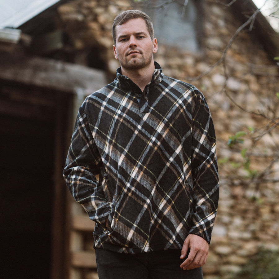 Palmer Fleece Pullover | Berkley Plaid