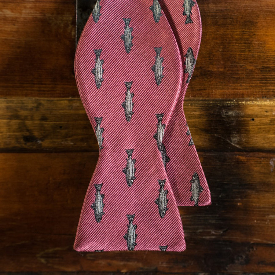 Trout Bow Tie | Rainbow Trout Pink