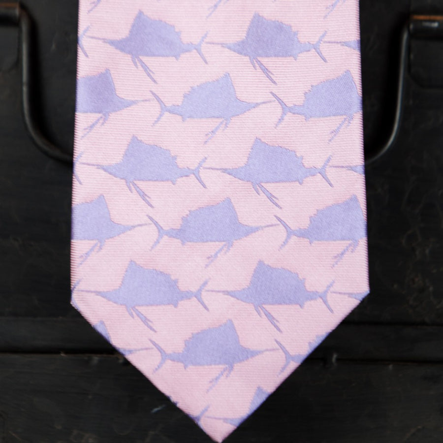 Sail Fish Pattern - Light Pink and Purple