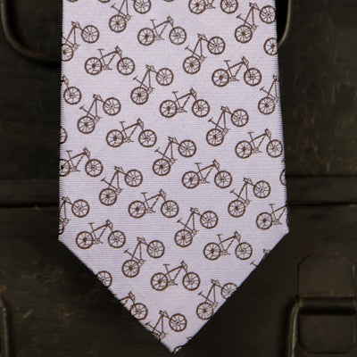 Bicycle Pattern - Purple and Brown