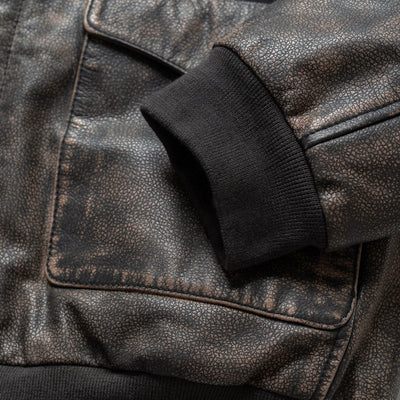 Cool leather bomber jacket for men