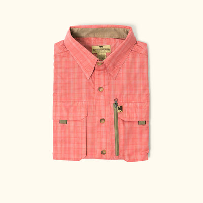 Riverdale Fishing Shirt | Coral Plaid
