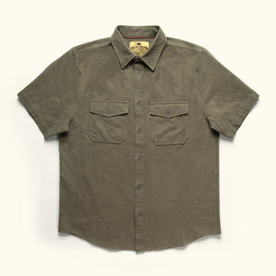 Rondon Short Sleeve Linen Shirt Olive