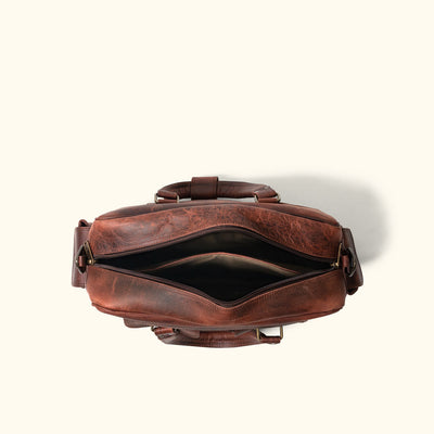 Men's Buffalo Leather Pilot Bag | Dark Oak