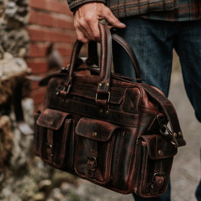 Vintage Roosevelt Buffalo Leather Pilot Bag