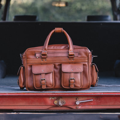 Classic American Leather Pilot Bag | Amber hover