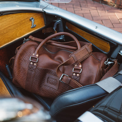 Ryder Reserve Bison Leather Travel Duffle Bag | Brown hover