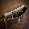 Denver Leather Attache Briefcase | Dark Walnut