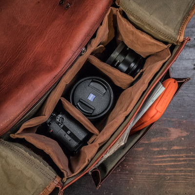 Everett Vintage Leather Camera Bag
