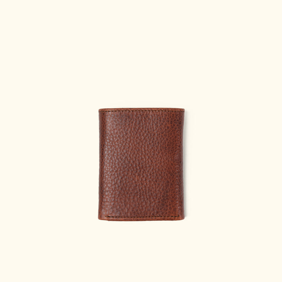 Ryder Reserve Bison Leather Trifold Wallet | Brown