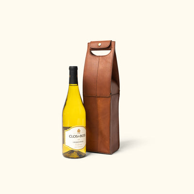 Vintage Wine Tote Full Grain Leather