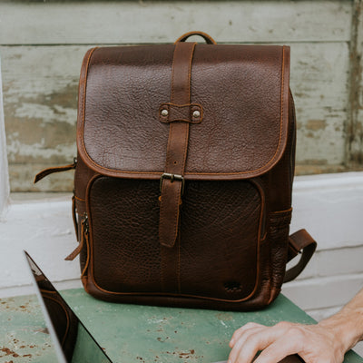 Ryder Reserve Bison Leather Backpack | Brown