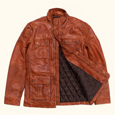 Mens Fine leather field jacket