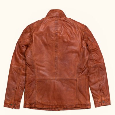 Mens Vintage Leather field jacket