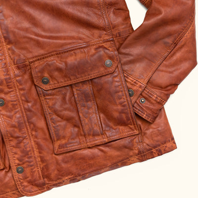 Mens Best Leather Field jacket