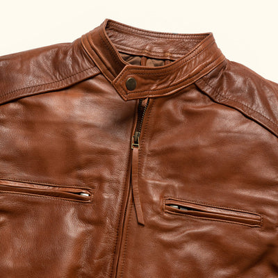 Vintage Moto Leather Jacket for men