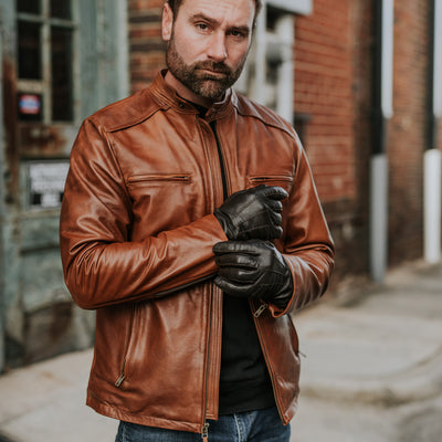 Vintage Leather Moto Jacket