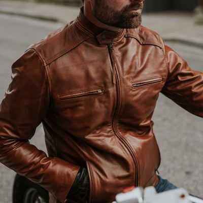 Vintage Leather Lambskin Moto jacket
