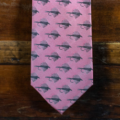 Trout Fly - Pink - Necktie