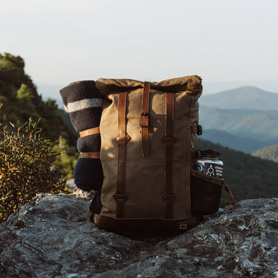 Blue Ridge Canvas Rolltop Backpack | Field Khaki hover