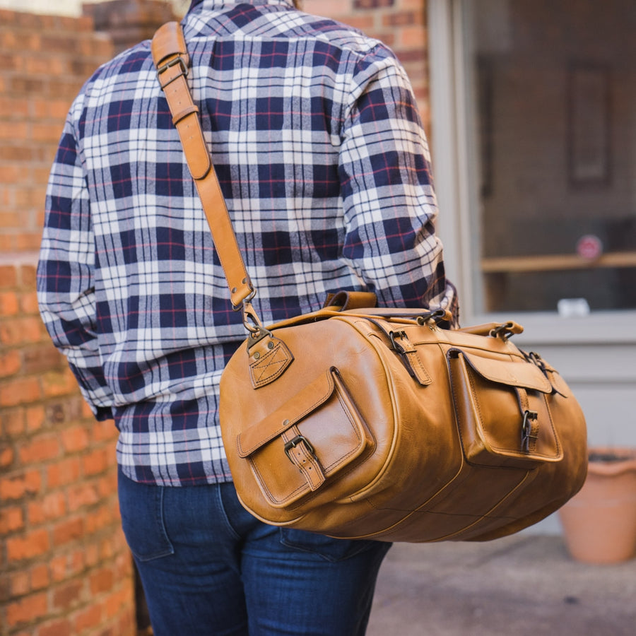 Roosevelt Buffalo Leather Travel Duffle Bag | Barley