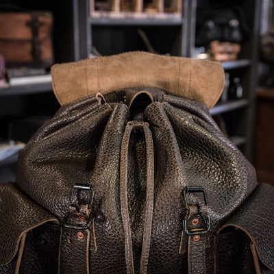 Dakota Leather Rucksack | Dark Brown