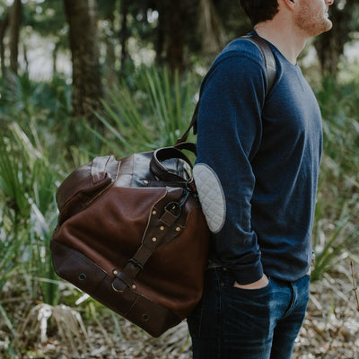 Well Made Leather Weekend Bag Brown