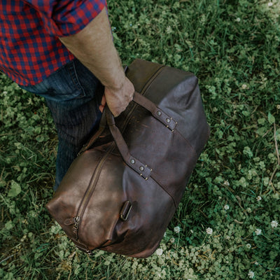 Full Grain Leather Weekend Bag | Vintage Oak