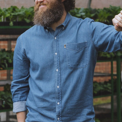 Wyoming Denim Shirt - Dark hover