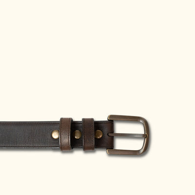 Vintage Bison Calhoun Belt | Dark Chocolate Brown