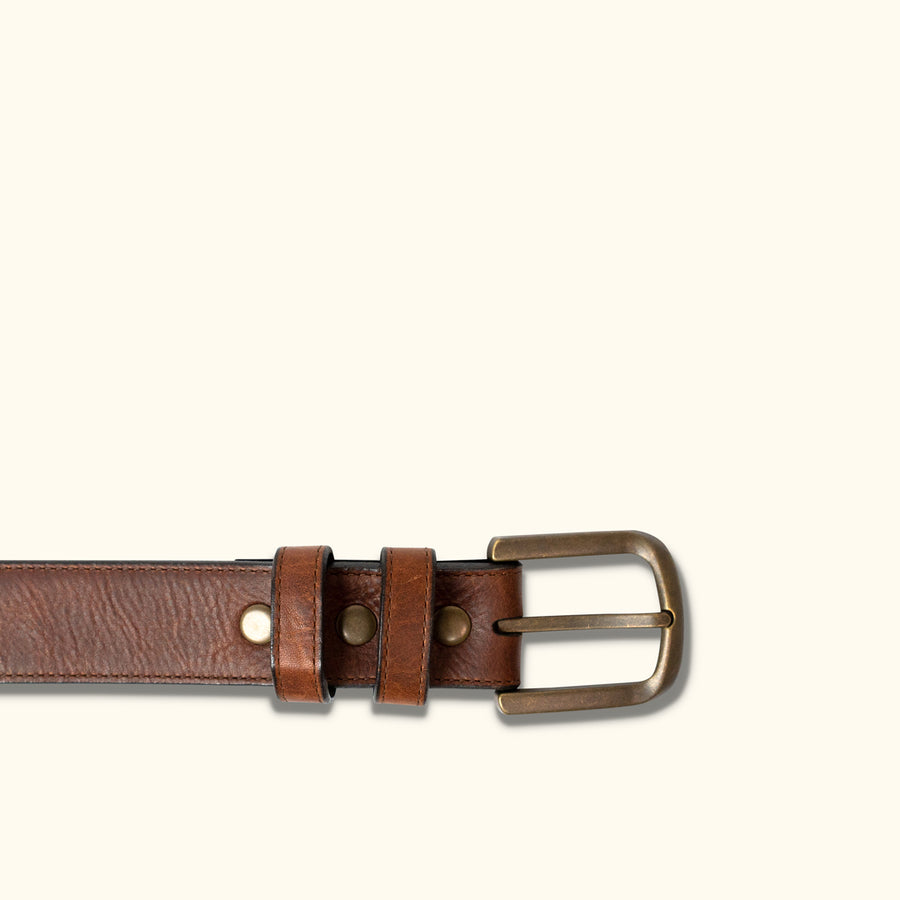 Vintage Bison Calhoun Belt | Saddle