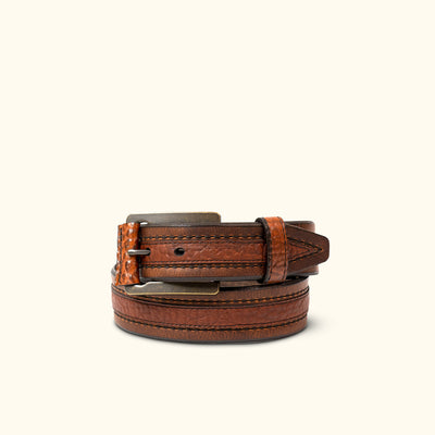 Vintage Bison Chippewa Belt | Saddle/Peanut