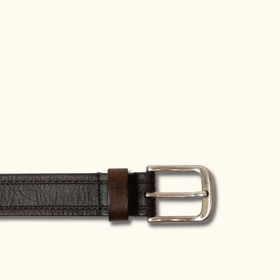 Vintage Bison Gettysburg Belt | Dark Chocolate Brown
