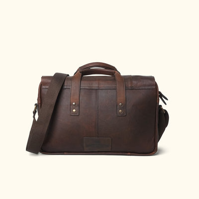 Men's Rugged Leather Briefcase Bag | Vintage Oak back