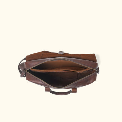 Vintage Leather Briefcase Bag | Vintage Oak interior