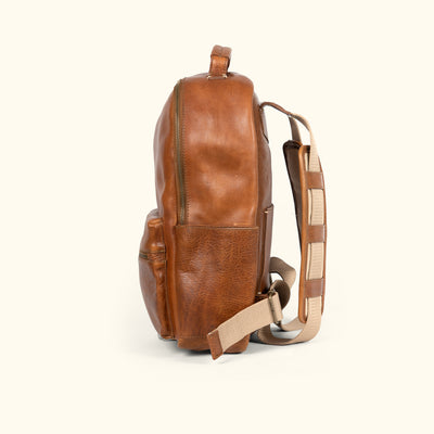 Walker Leather Commuter Backpack - Rugged Tan
