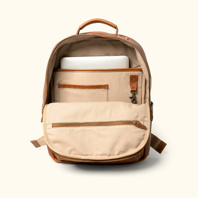 Vintage Leather Tan Backpack