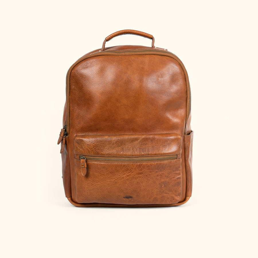 Rustic /& black leather backpack