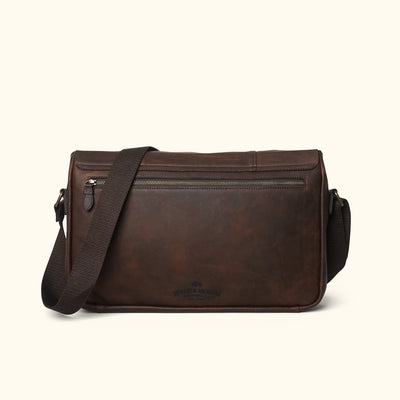 Men's Best Leather Messenger Bag | Vintage Oak back