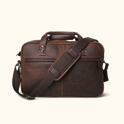 Men's Vintage Leather Pilot Bag | Vintage Oak front