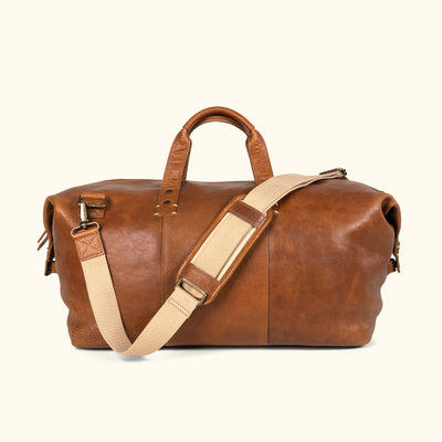 Walker Leather Weekend Bag Rustic Tan Buffalo Jackson