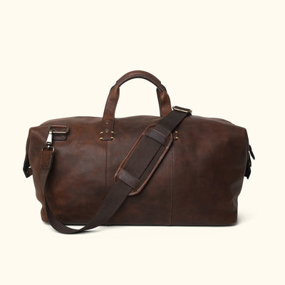 Men's Classic Leather Weekend Bag | Vintage Oak front