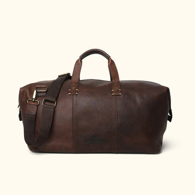 Men's Leather Travel Bag | Vintage Oak back