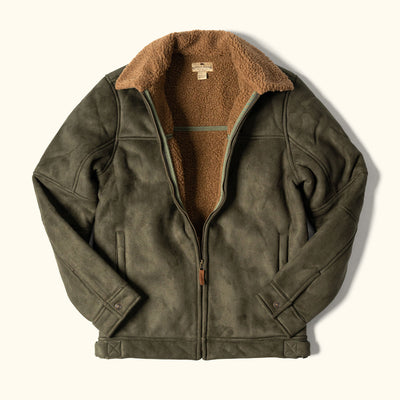 Warren Men's Faux Suede Flight Jacket